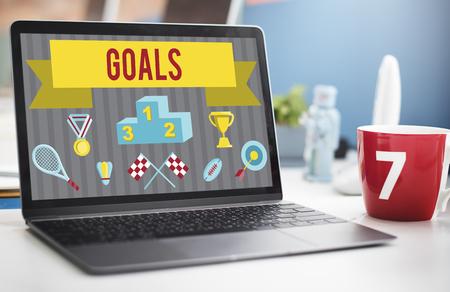 Goals concept on a laptop
