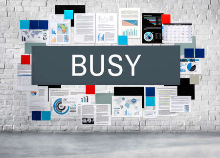 overload: Busy Hardworking Multitasking Overload Rushing Concept Stock Photo