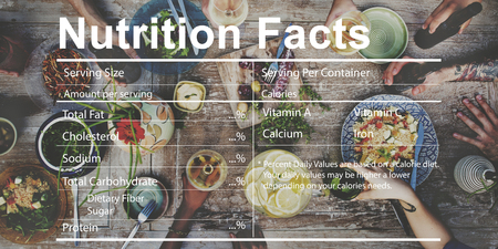 facts: Nutrition Facts Medical Diet Nutritional Concept