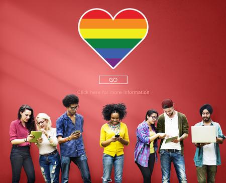 LGBT Stolz Homo Bisexual Transgender Konzept Standard-Bild - 57620017