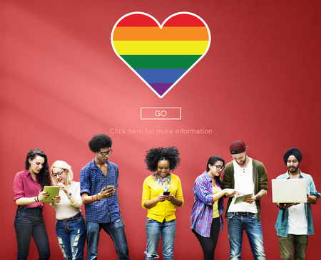 LGBT Trots Homosexual Bisexual Transgender Concept Stockfoto