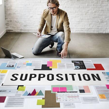 l�gica: Predicci�n suposici�n l�gica Ideas Concept