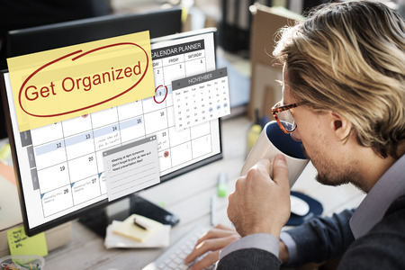 organized: Get Organized Tidy Up Clean Schedule To Do Concept