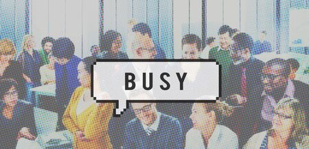 engaged: Busy Business Multitask Engaged Concept Stock Photo