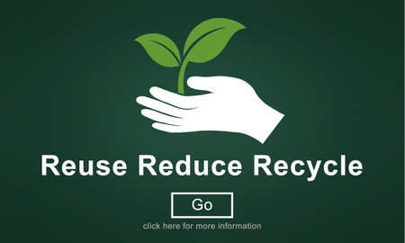 reduce: Reuse Reduce Recycle Eco Friendly Concept Stock Photo