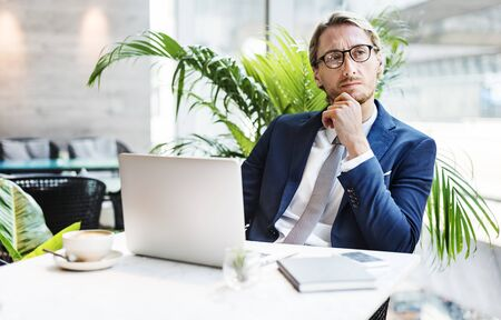 Businessman Working Thinking Business Concept Banco de Imagens