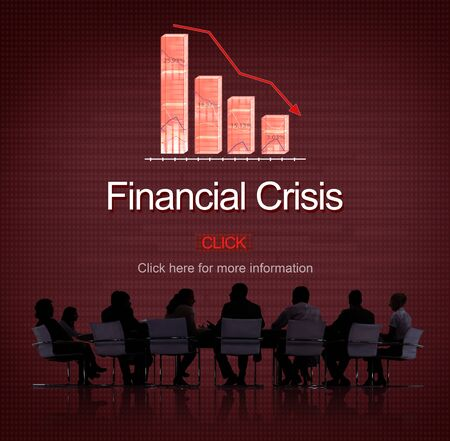 financial crisis: Financial Crisis Depression Failure Decrease Concept Stock Photo
