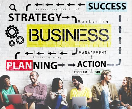 asian ethnicity: Business Planning Strategy Success Action Concept