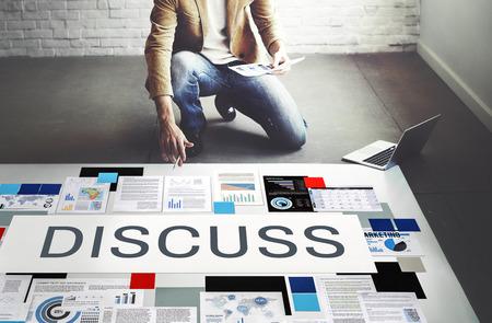 Discuss Discussion Negotiation Talking Debate Concept