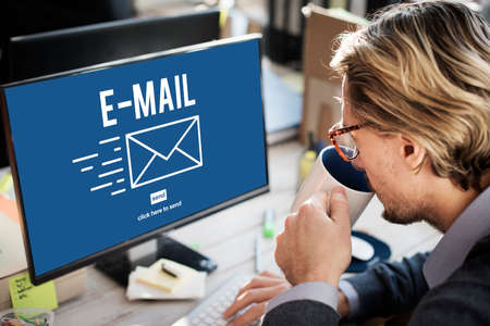 deliver: E-mail Correspondence Envelpoe Message Deliver Concept