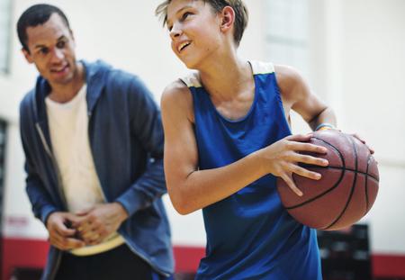 bounce: Coach Team Athlete Basketball Bounce Sport Concept