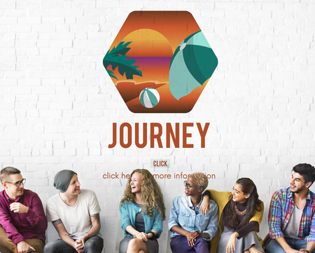 Journey concept with group of people
