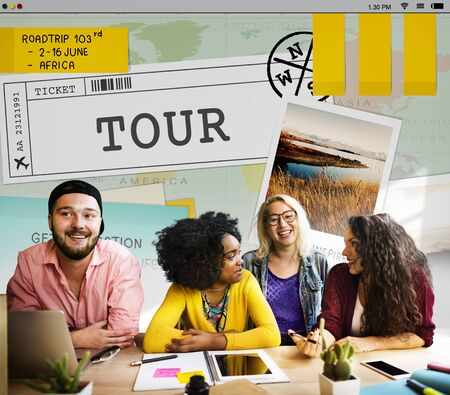 campus tour: Trip Travel Destinatiion Explore Tour Concept
