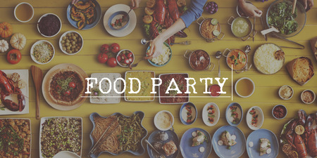 foodie: Food Party Foodie Dining Meal Concept