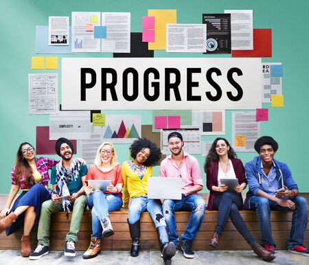 better: Progress Better Development Growth Innovation Concept Stock Photo