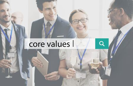 ideology: Core Values Purpose Ethics Ideology Concept Stock Photo