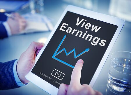 ganancias: View Earnings Budget Finance Investment Income Concept