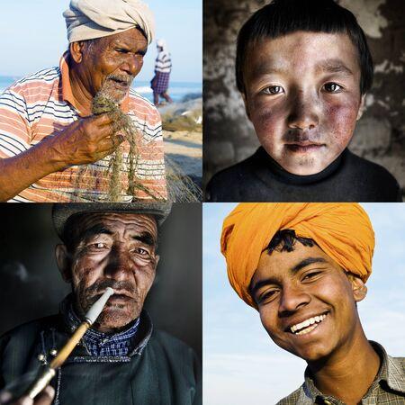 humanismo: Ethinicity Diversidad Humanismo Variaci�n Foto de archivo