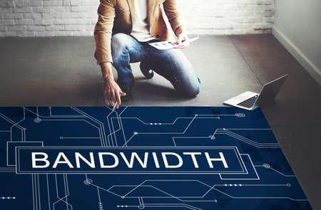 bandwidth: Bandwidth Internet Online Connection Technology Concept