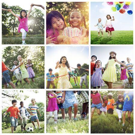niños de diferentes razas: La adolescencia Infancia Diversidad Etnia Amigos Concept