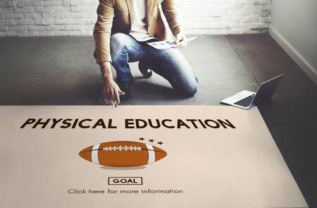 educacion fisica: Educación Actividad Física Alegre Concepto Ejercicio