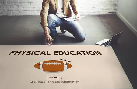 educacion fisica: Physical Education Activity Cheerful Exercising Concept