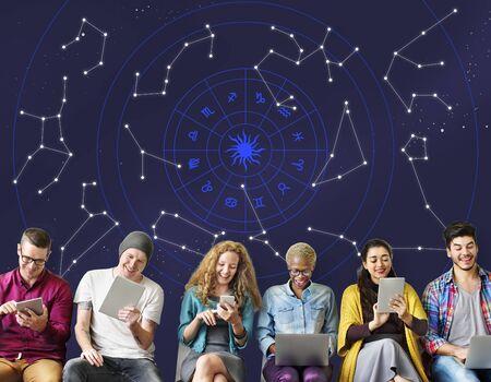 astrologie: Astrologie Horoskop Sterne Sternzeichen Lizenzfreie Bilder