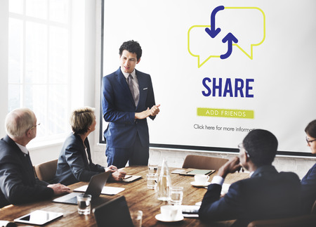 Sharing concept in a meeting