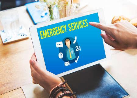 emergency services: Emergency Services Urgency Helpline Care Service Concept