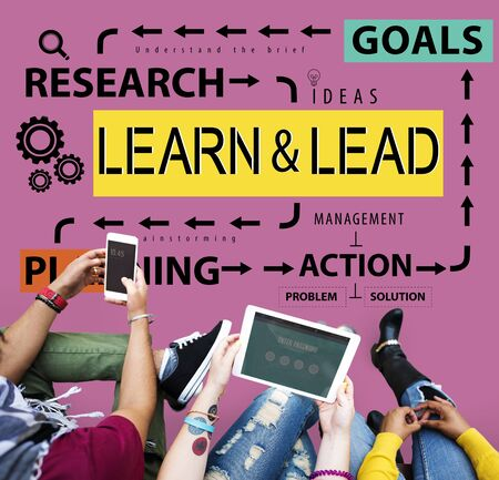 learn and lead: Learn & Lead Leadership Management Development Concept