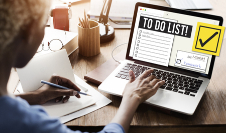 To Do List Time Management Reminder Pritize Concept Stockfoto