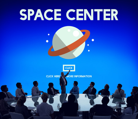 Space center concept in a board meeting