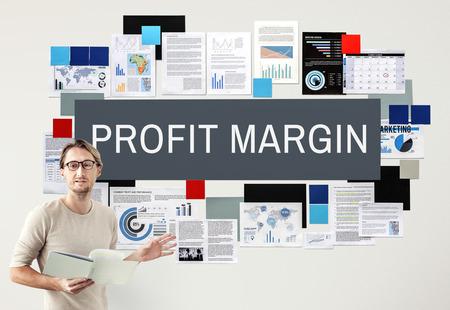margen: Concepto de presupuesto margen de beneficio de los pagos de ingresos Foto de archivo
