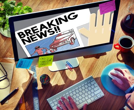 article: Breaking News Annouce Article Infromation Concept