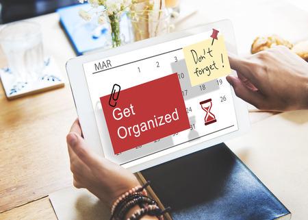 Get Organized Planner Calendar Management Concept