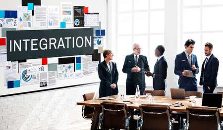 consolidate: Integration Combine Blend Merge Togetherness Concept