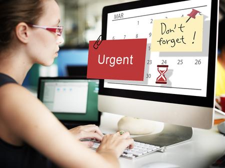 urgent: Urgent Calendar Plan Planning Organizer Concept