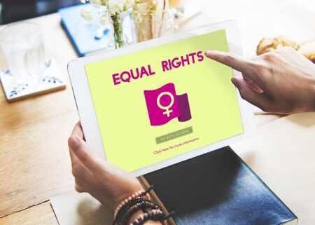 Woman Power Feminist Equal Rights Concept Stock Photo