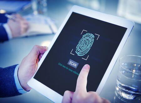 Fingerprint Scan Biometrics Identify Authorization Concept Stock Photo