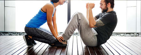trainee: Trainer Trainning Trainee Sporty Healthy Gym Fit Concept