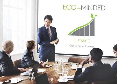 Eco minded concept in a meeting room