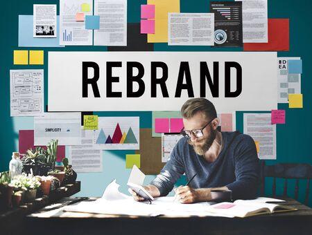 differentiate: Rebrand Change Corporate Identity Marketing Concept
