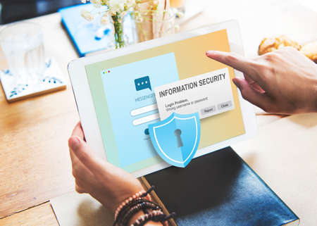 facts: Information Security Content Data Facts Information Concept Stock Photo