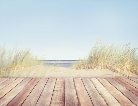 Planche de plage et de bois