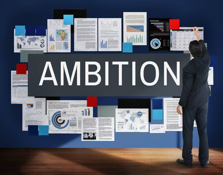 ambition: Ambition Aspiration Business Vision Goals Concept Stock Photo