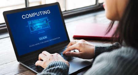 digital memory: Computing Computer Digital Information Memory Concept Stock Photo