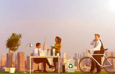 green office: Environmentally green office in the city.