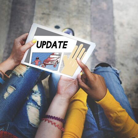 breaking news: Update Trending Breaking News Report Information Concept Stock Photo