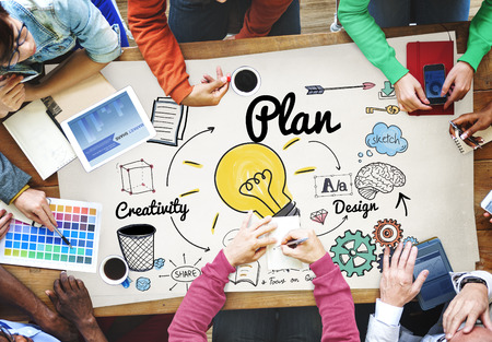 Plan concept with brainstorming Stock Photo