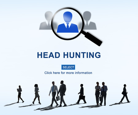 Headhunting Hiring Employment Occupation Jobs Concept Stock Photo
